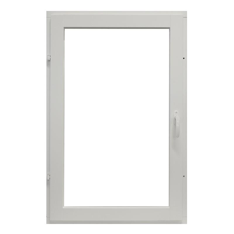 Sivusaranoitu puualumiini-ikkuna Valkoinen